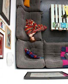 Togo sofa from Ligne Roset. Sweet dreams! :) www.lignerosetsf.com #LiveBeautifully