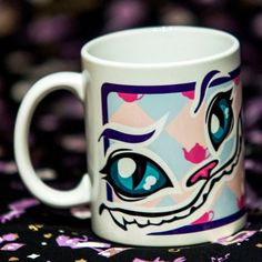 Cheshire Cat Mug. €9.00, via Etsy.