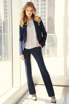 Trendy Business Casual Work Outfits For Woman 66 Business Casual Dresses, Casual Work Outfits, Business Outfits, Work Attire, Work Casual, Business Fashion, Business Clothes, Business Women, Business Chic
