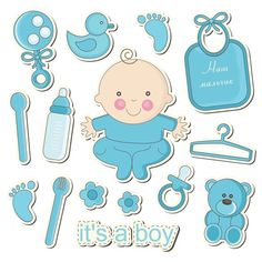 68 Ideas For Baby Shower Printables Girl Design Baby Boy Scrapbook, Scrapbook Bebe, Scrapbook Layouts, Clipart Baby, Dibujos Baby Shower, Moldes Para Baby Shower, Baby Motiv, Baby Shawer, Diy Baby