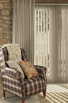 Finish Off Neutral Interiors With Similar Window Dressings To Complete The Colour Scheme Vertical Blinds
