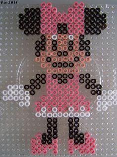 Minnie Disney hama perler beads by Les loisirs de Pat