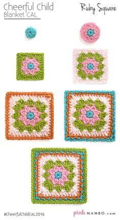 'Cheerful Child' Granny Square. Free pattern