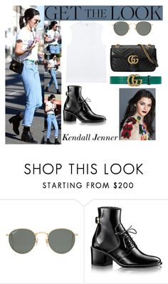 """Kendall Jenner Beverly Hills CA November 13, 2016"" by valenlss ❤ liked on Polyvore featuring Ray-Ban and Gucci"