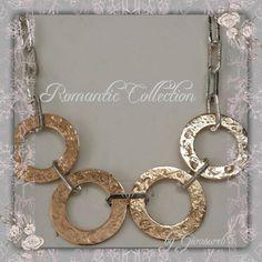 collana con cerchi in bronzo e catena in argento 925 ... new romantic collection