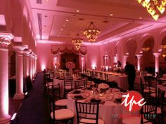 30 LED Up Lighting Fixtures at the Vinoy Sunset Ballroom - love these pictures from our wedding. A day we will always remember... 05.11.13 -