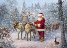 I Adore Christmas Christmas Scenes, Christmas Past, Father Christmas, Christmas Crafts, Christmas Countdown, Christmas Christmas, Holiday, Christmas Artwork, Christmas Paintings