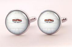 Spinki do mankietów Piłka siatkowa  Dostępne w butiku Madame Allure!