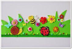 Manga por Hombro: Corona de primavera. Bunny Crafts, Cute Crafts, Diy And Crafts, Arts And Crafts, Paper Crafts For Kids, Foam Crafts, Scenery Drawing For Kids, Board Decoration, Spring Hats