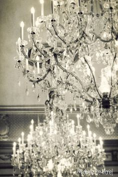 Fine Art Photography, Vintage Chandelier from Chateau Versailles, France