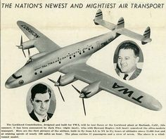 Announced March 1942 by the Skyliner Magazine, the new Lockheed Constellation is ready for its maiden flight.