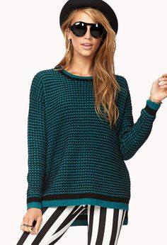 Menswear-Inspired Zigzag Sweater $19.80