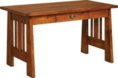 Rustic Cherry Freemont Mission Open End Desk (Quick Ship) Rustic cherry wood adds a warm look to his gorgeous mission desk. Versatile mission style makes it a great match with existing furniture.