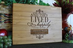 Personalized Cutting Board Lasered Engraved by EngrainedMemories