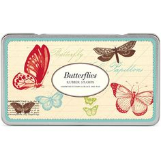 Cavallini Butterflies Rubber Stamp Set - Paper Source