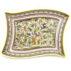 Coimbra Ceramics Hand-painted Decorative Tray XVII Century Recreation #193/2