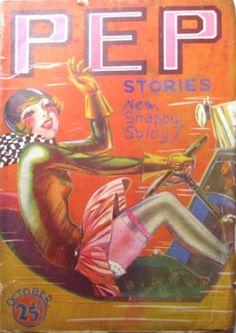 Oct1927 Pep Stories vintage magazine cover