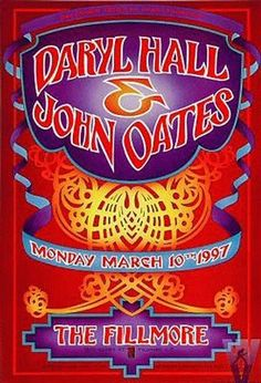 Original concert poster for Daryl Hall
