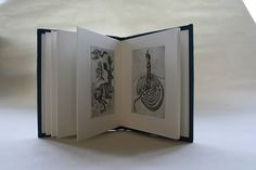Limited edition of etchings hand bound in full leather by www.blackcatbindery.com Etchings by Corinna Sargood