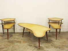 Ameoba lacquer 50's cafe table set $150