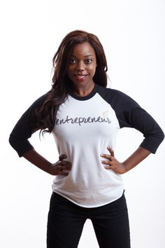 Wear it with pride, entrepreneur. Tshirt Business, Baseball Shirts, Entrepreneur, Pride, Crew Neck, Tees, Sleeves, Cotton, How To Wear