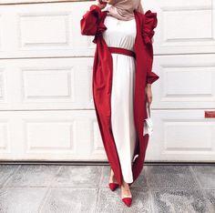 Abaya Fashion, Muslim Fashion, Modest Fashion, Fashion Outfits, Modern Abaya, Casual Frocks, Abaya Designs, Mode Hijab, Pakistan