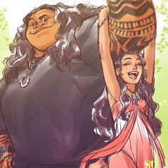 I expect happiness of Maui and Moana. Maui x Moana Moana Disney, Disney Pixar, Disney Animation, Disney Ships, Disney Memes, Disney Fan Art, Disney And Dreamworks, Disney Cartoons, Disney Magic
