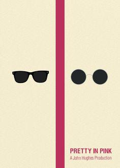 Pretty in Pink Minimalist Movie Poster by Chay Lazaro