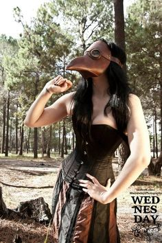 Plague Doctor Mask. $180.00, via Etsy. You would be crazy to pay this much for it! lol