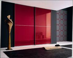 Bedroom Design: 59 ideas wardrobe wood finish and glass panels Master Bedroom Wardrobe Designs, Sliding Door Wardrobe Designs, Bedroom Wall Designs, Bedroom Cupboard Designs, Bedroom Decor, Bedroom Cupboards, Home Design, Home Interior Design, Wardrobe Laminate Design