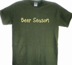 Beer Season Funny Hunting Shirt Deer Hunter T by MangoMongoTees, $19.95