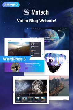 Present your full-service video agency in a proper way using a top-notch Motech WordPress theme. You will create a modern, professional website with a stylish design and varied functionality. Wordpress Theme Design, Best Wordpress Themes, Website Design Inspiration, Online Store Builder, Web Design, Design Guidelines, Layout, Professional Website