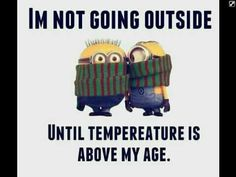 Brr cold and I agree.