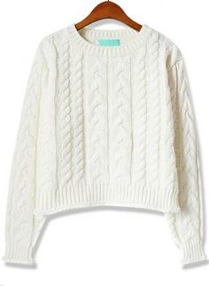 Cream Cable Knit Sweater #jumper #winter #holiday