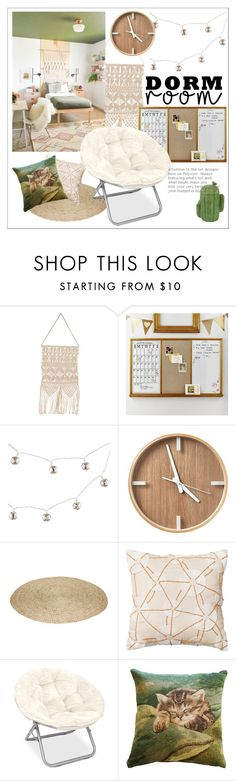 """""""Boho Dorm"""" by groove-muffin on Polyvore featuring interior, interiors, interior design, home, home decor, interior decorating, Homage, PBteen, Dot & Bo and Pillow Decor"""