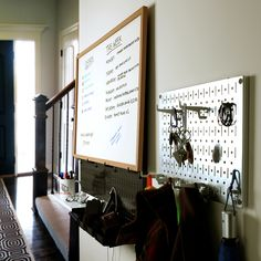 """This Wall Control pegboard is perfect for small areas and spaces that are in need of storage and organization. You can use the """"Fun Size"""" pegboard all throughout your home, without sacrificing a beautiful home aesthetic."""