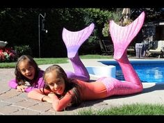 How to make a DIY Swimmable Mermaid Tail! Inexpensive - NO SEW! Kids Birthday or Christmas gift! - YouTube