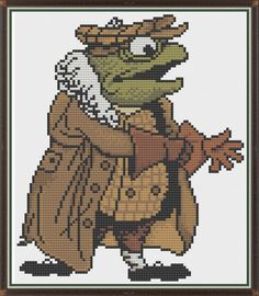 Ratty Tree House Character Story Wind in Willows Counted Cross Stitch Pattern