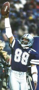 Drew Pearson |Right before he spiked the ball in reverse over the goal post !!!