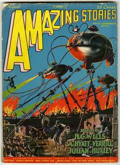 Amazing Stories (August 1927) #hgwells #scifi #sciencefiction #pulp