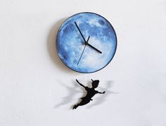 Peter Pan Swinging on the Moon  Pendulum Wall by SolPixieDust