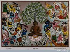 Buddha, resisting the demons of Mara,
