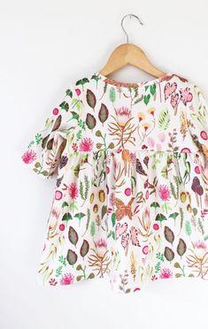 Handmade Organic Cotton Botanical Print Dress | LolaandStella on Etsy