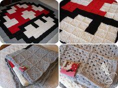 Couverture Toad au crochet