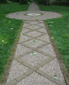 Pea Stone and Brick Path