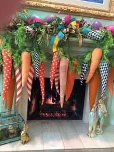 You know you gotta dangle a carrot in order to get any CHOCOLATE from the Easter. You know you gotta dangle a carrot in order to get any CHOCOLATE from the Easter Bunny Easter Tree Decorations, Decoration Table, Easter Wreaths, Easter Projects, Easter Crafts, Easter Ideas, Spring Crafts, Holiday Crafts, Diy Osterschmuck