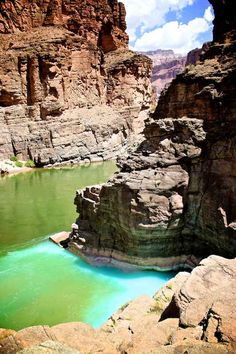Havasu Creek meet Colorado River, Havasupai, AZ. My favorite part! You can move from the warm creek to the freezing river in one step.