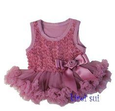 dusty pink jurkje met roosjes