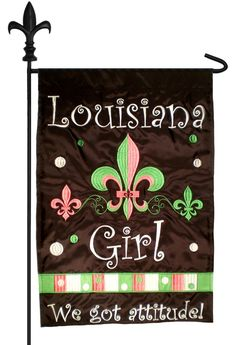 IAmEricas Flags - Louisiana Girl Double Applique Garden Flag, $18.00 (http://www.iamericasflags.com/products/louisiana-girl-double-applique-garden-flag.html)