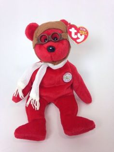 6bc04081bb0 Ty Beanie Babies Bearon Bear Plush Collectible Toy 100 Years of Flight Pilot